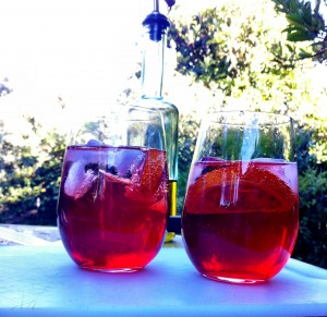 Campari spritzer ~ just what the hot weather demands